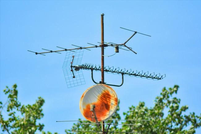 rdza na antenie satelitarnej